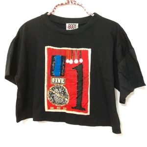 VINTAGE Gitano Crop Top T-shirt With Medals